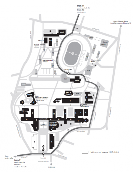 Campus map - University of Caen