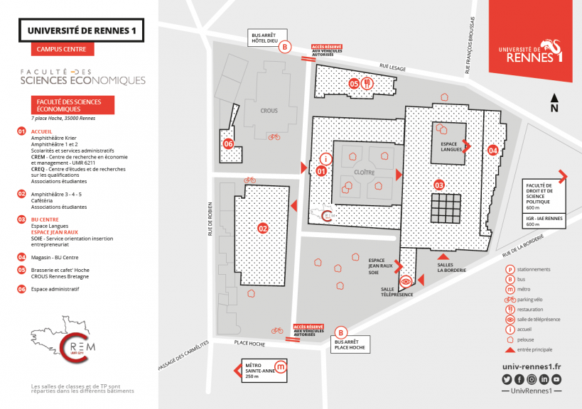 Map of the Faculty of Economics